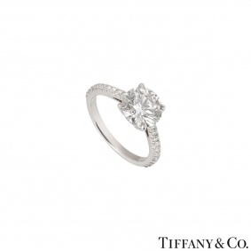 Tiffany & Co. Platinum Diamond Novo Ring 1.72ct G/VS1 XXX